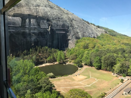 The carving picture of stone mountain park