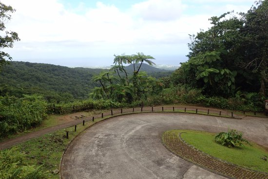 Basse-Terre, Guadeloupe: The turnaround for cars and buses