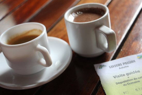 Vieux-Habitants, Guadalupe: Coffee and hot chocolate tasting