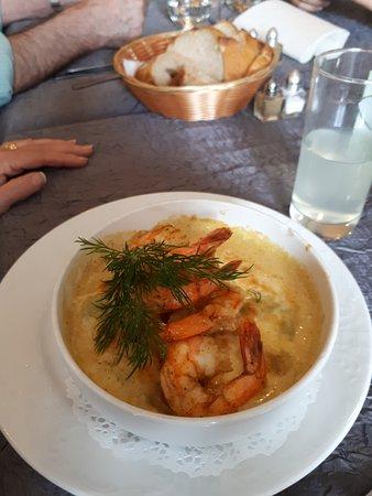 Auberge Le Collet : Ravioles au curry & gambas