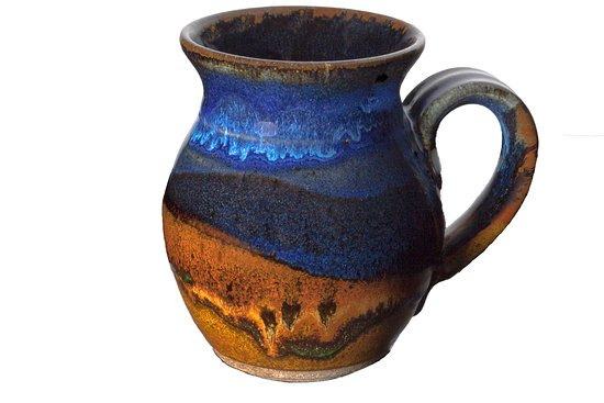 Beach, ND: Wheel-thrown stoneware mug.