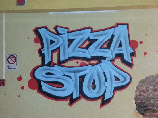 The Pizza Stop : Our name in paint.