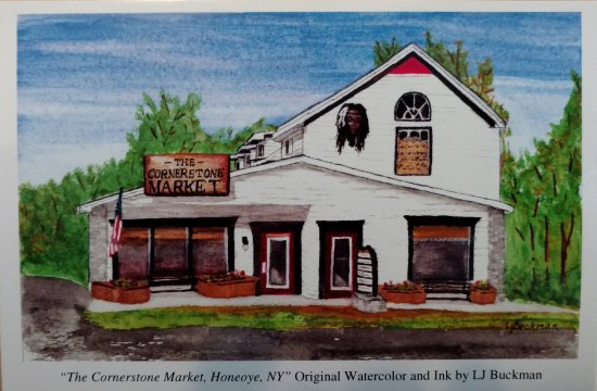 Honeoye, นิวยอร์ก: The Cornerstone Market and Peggy's Rumpus Room