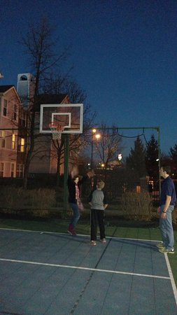 Sharonville, OH: Kids playing basketball until dark