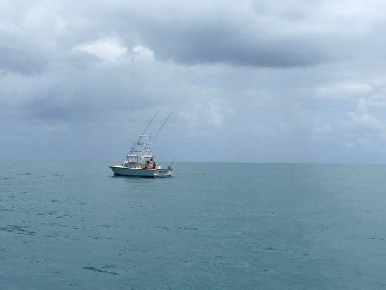 Port Canaveral, Floride : Fishing out it the storm