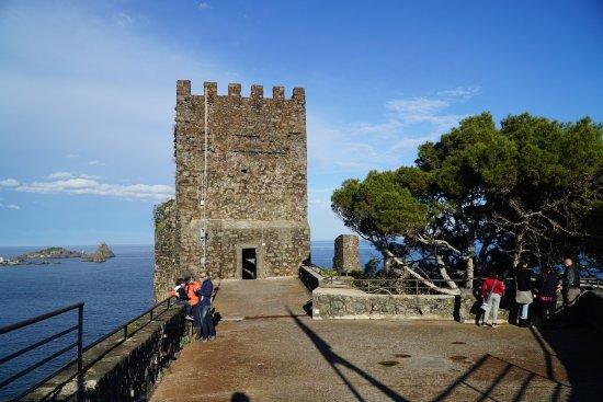 Aci Castello, Italia: Au sommet