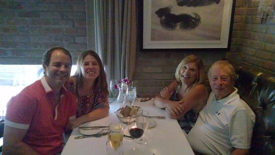 Family dinner at Osteria del Teatro