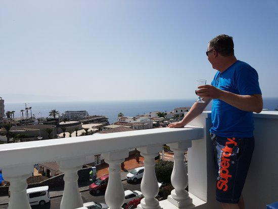 Santiago del Teide, Spanyol: The view from the 3rd floor apartment.