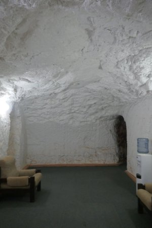White Cliffs, Australia: secondary entry to underground rooms from doorway