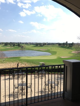 Glenview, IL: View from balcony-golf course