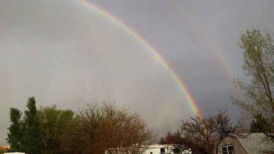 O.K. RV Park & Canyonlands Stables: double rainbow after the storm