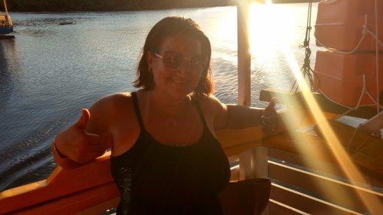 Santa Cruz Cabralia, BA: Barco bem seguro, vale a pena, ainda mais para curtir esse por do sol