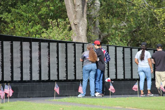 Longview, TX: An exact scale replica of the Washington Vietnam Memorial Wall