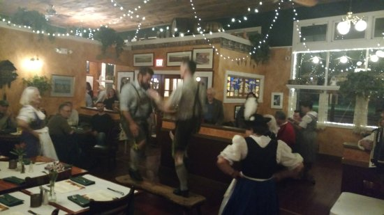 Bristol, RI: The bench dance at Oktoberfest