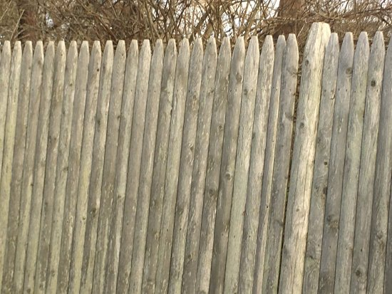 Hyannis Port, MA: Fence protecting compound