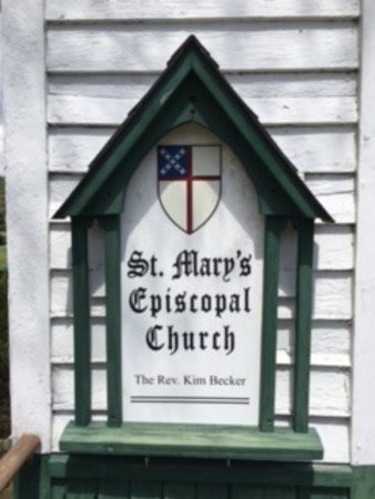 West Jefferson, Carolina del Nord: St. Mary's church sign