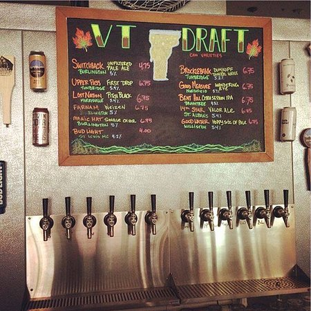 Bethel, VT: We just expanded our draft selection! We now offer 10 Vermont beers on draft, 1 Vermont hard cid