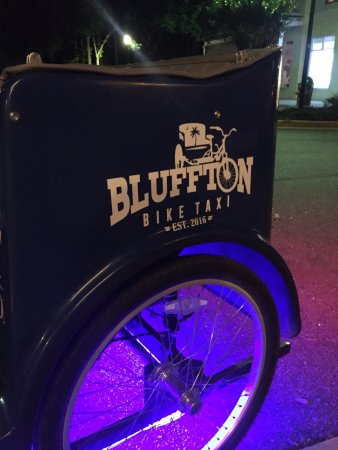 Quickest & easiest bike taxi service in Old Town Bluffton! You'll love Trey & his team to get yo
