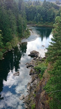 Nanaimo, Canadá: View from the bungy bridge