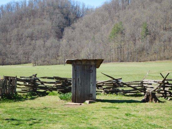 Mountain Farm Museum: outhouse