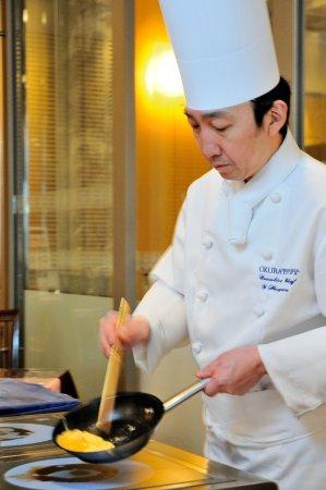 Ebina, Japón: 食材にこだわった、朝食ブッフェ。シェフが目の前で卵料理をお作りします。
