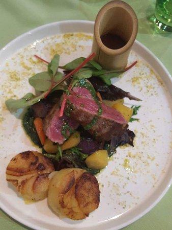Petange, Luxembourg: Entrée, les plats et desserts