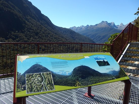 Milford Sound, Nouvelle-Zélande: 展望台から