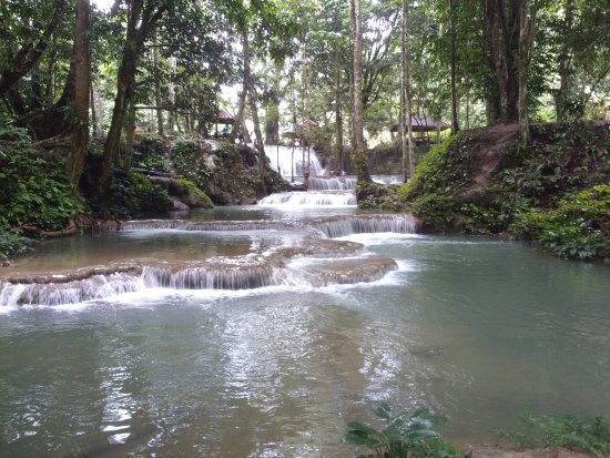 Luwuk, Indonesia: long view of salodic waterfall
