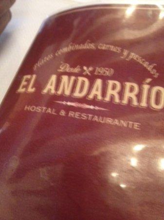 Buitrago de Lozoya, สเปน: El menú
