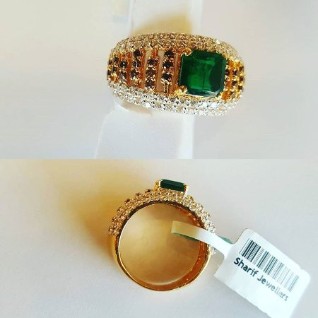 scroll her gold rings emerald raj jewels ring for him new jewelry jewellery