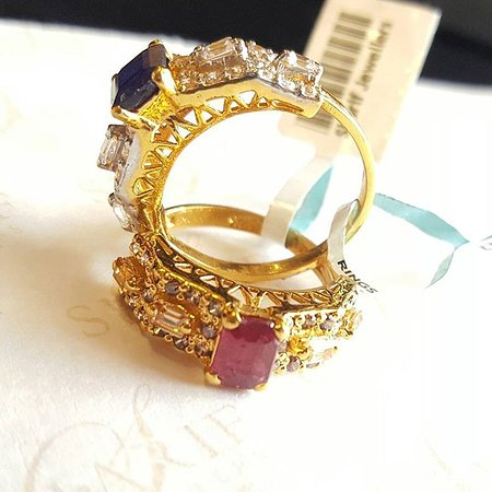 pin her gold his pinterest rings cz indian with