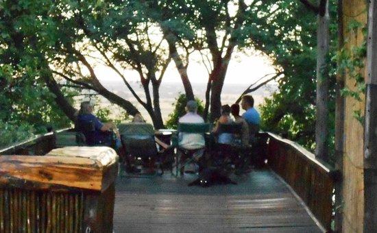 Rundu, Namibia: A deck with views across the Zambezi