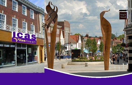 Letchworth, UK: ICAS - Vilas Fine Art establish 1984 ART in The World First Garden City