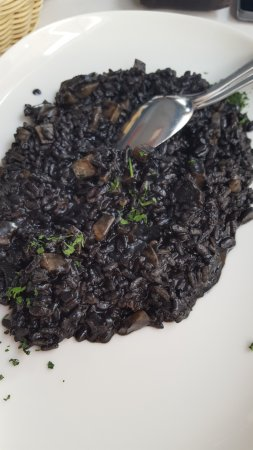 Podstrana, Croazia: black risotto