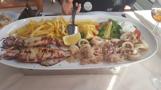 Podstrana, Croatia: calamari and squid