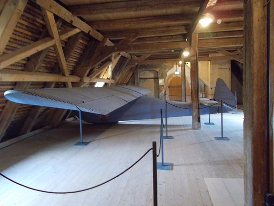 Colditz Castle: Hard to believe that the glider was built in such a small space.  The reconstruction actually FL