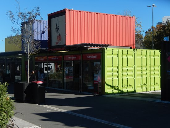 Cashel Street: Shipping container shops