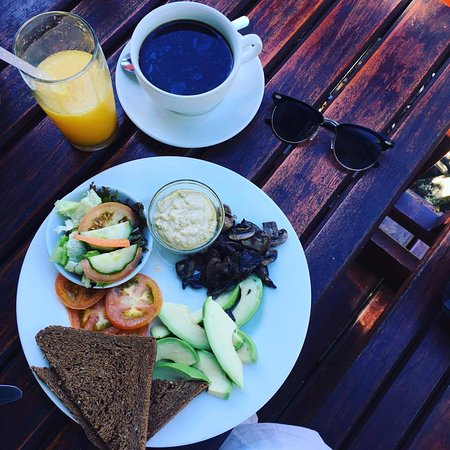 Grahamstown, Sudáfrica: Vegan breakfast.