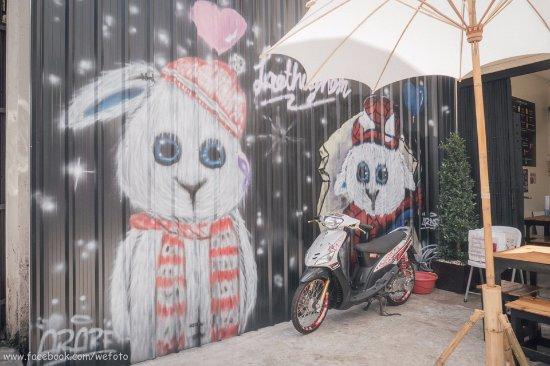 Chanthaburi, Thailand: กราฟฟิตี้ก็มี