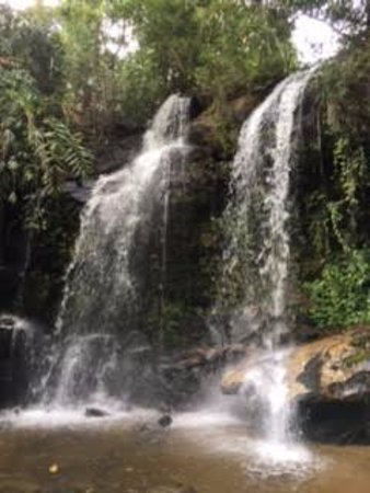 Next Step Thailand (Travel with Joe) Cycling and Hiking Private Day Tours : Waterfall shower :-)