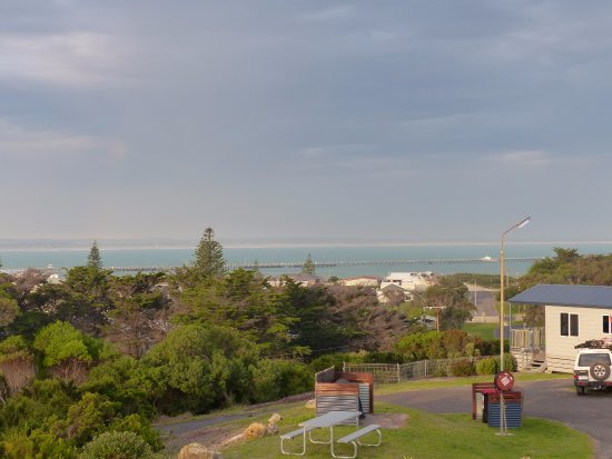Beachport, Australia: Photo taken from our cabin at dusk.