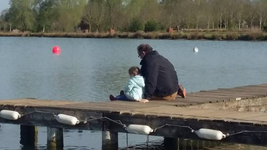 Bosworth Water Park: feeding the fish.