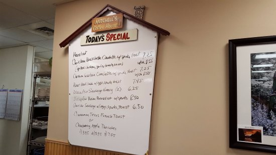 Mitchell's: Daily Specials