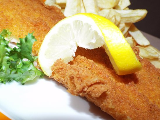 Fortrose, UK: Now serving Breaded Haddock