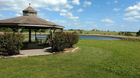 Brenham, TX: The gazebo and pond that I hung out at.