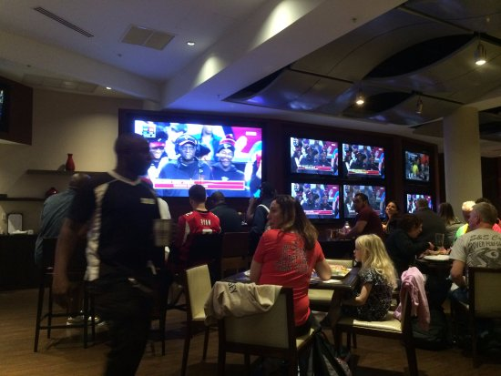 Champions Sports Bar : Yelling, and we had NO idea what about!!