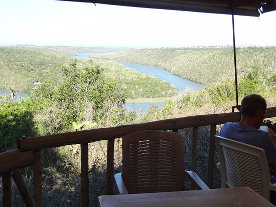 Kenton-on-Sea, Sudáfrica: The view of the river from Stanley's Restaurant