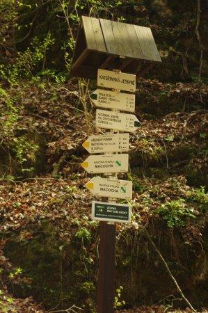 South Moravian Region, جمهورية التشيك: rozcestník u Kateřinské jeskyně