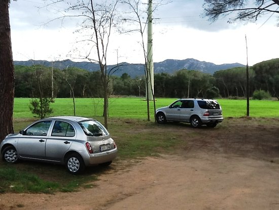 Santa Cristina d'Aro, สเปน: Zona para aparcar enfrente del restaurante, no pertenece al establecimiento.