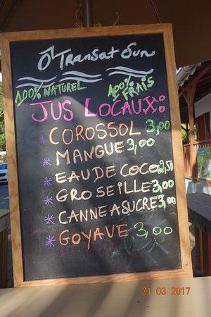 Bouillante, Γουαδελούπη: Jus de Corossol (trop bon !)